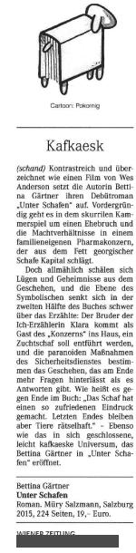 Unter Schafen_Wiener Zeitung 28-29_11_2015